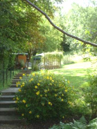 Garden of Coombe House residential care home